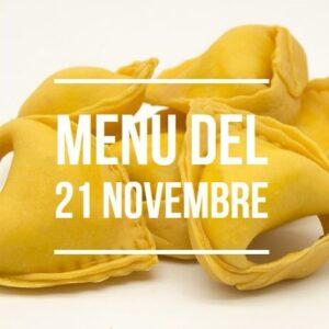menù del 21 novembre