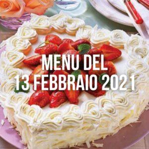 Menu del 13 febbraio 2021 Botteghe e Mestieri